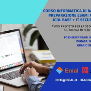 Corso informatica di base: Preparazione esami ECDL/ICDL Base ed It Security